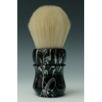 30mm Cashmere shaving brush - Silver Floral